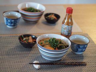 野菜スープを使ってカレーうどん