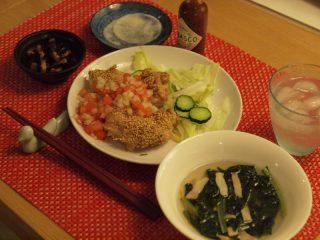体脂肪計タニタの写真食堂より☆チキンのごまサルサソース☆