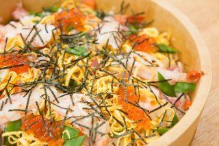 ひなまつりに散し寿司