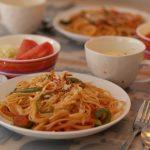 ☆スパゲティーナポリタン&コーンスープ☆ でランチ