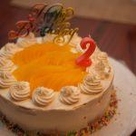 次女の2歳誕生日ケーキ